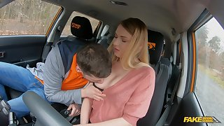 Slutty youngster Lucy Heart screws her older driving cram