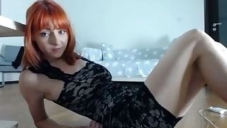 I love seeing this camgirl wear a dress while she shows missing her huge tits