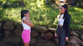 Asian seductress Ember Snow is convention love with her new girlfriend