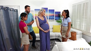 Midwives prod pregnant lady w horny boyfriend!