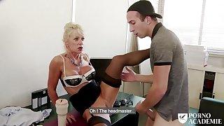 Busty mature Marina Beaulieu anal sex & DP in threesome