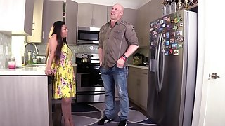 Hardcore making out in the kitchen hither horny wife Krystal Davis
