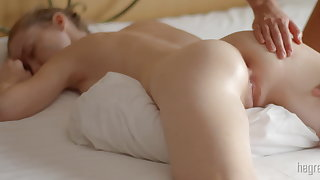 Girl girl body body rub-down